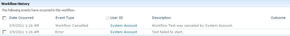 Error Workflow